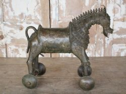 19th Century Tribal Bronze Horse <b>sold<b>